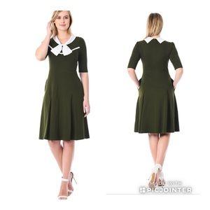 Eshakti Peter Pan Collard Dress